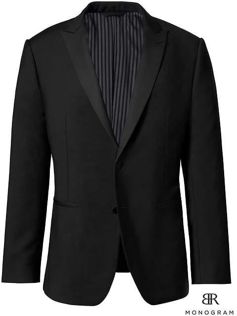 Banana Republic Monogram Slim Italian Wool-Mohair Tuxedo Jacket