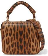 Sophie Hulme Finsbury Small Leopard-Print Leather Shoulder Bag