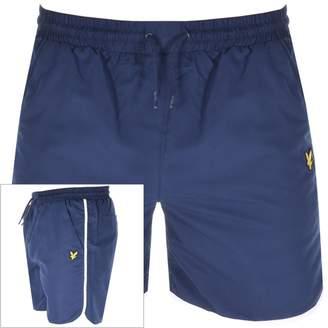 Lyle & Scott Logo Piping Swim Shorts Navy