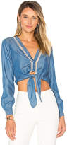 Lovers + Friends Carmine Top in Blue. - size L (also in M,S,XL)