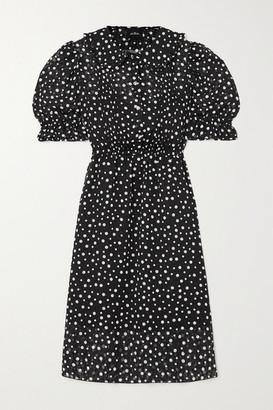 Marc Jacobs The Kat Crystal-embellished Polka-dot Fil Coupe Chiffon Dress - Black