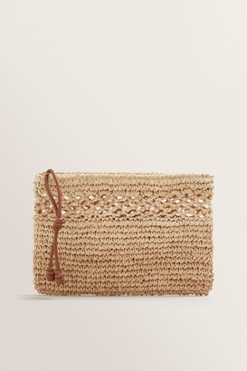 Seed Heritage Raffia Weave Pouch