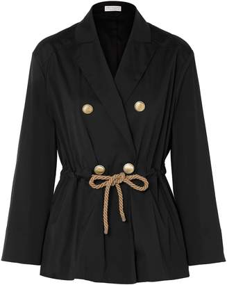 Brunello Cucinelli Double-breasted Belted Cotton-blend Poplin Jacket