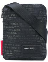Diesel small logo print messenger bag