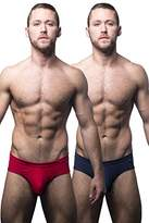 Andrew Christian Men's Basix Tagless Brief 2-Pack