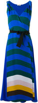 Fendi stripe wrap-front dress - women - Silk - 42
