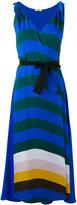 Fendi stripe wrap-front dress