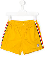Moncler side stripe swim shorts - kids - Polyamide/Polyimide - 4 yrs