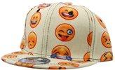 So'each Cute Cartoon Look Face Print Flat Bill Visor Snapback Cap Baseball Hat