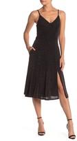 Socialite Metallic Knit Fit & Flare Dress