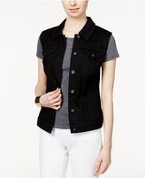Style&Co. Style & Co. Denim Black Wash Vest, Only at Macy's