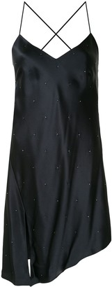Mason by Michelle Mason Rhinestone-Embellished Cocktail Dress
