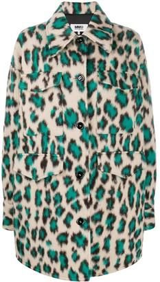 MM6 MAISON MARGIELA Leopard-Print Oversized Coat