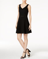 Bar III Crochet-Trim Fit and Flare Dress, Created for Macy's