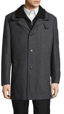 Calvin Klein Coleman Mock-Layered Wool-Blend Coat