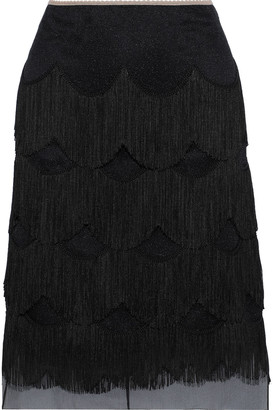 Marc Jacobs Fringed Organza Skirt