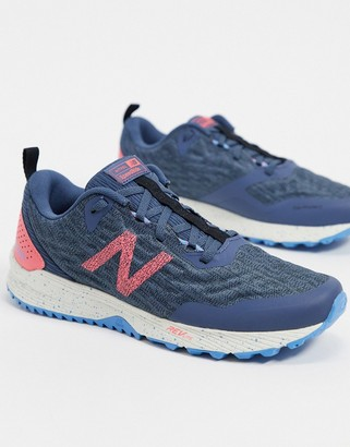 New Balance Running Nitrel v3 trail in dark grey and pink