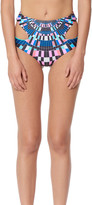 Mara Hoffman Exclusive Cutout High Waisted Bikini Bottom