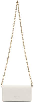 Prada White Saffiano Chain Wallet Bag