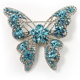 Avalaya Dazzling Light Crystal Butterfly Brooch