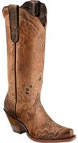 Tony Lama Boots Women's Saigets Worn Goat 6071L Western Boot