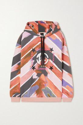 P.E Nation Co-driver Printed French Cotton-terry Hoodie - Pink