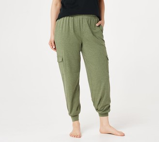 AnyBody Tall Cozy Knit Cargo Jogger Pants