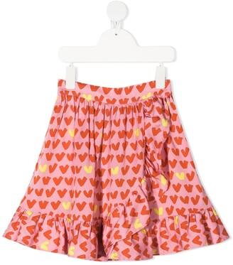 Stella McCartney Kids Hearts viscose-twill skirt