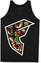 Famous Stars & Straps Men's Pineapple Skull Graphic-Print Logo Cotton Tank