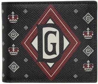 Dolce & Gabbana Black Bandana 6 Bifold Wallet