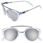 Westward Leaning Women's 'Flower' 51Mm Sunglasses - Black Matte/ X3 Silver