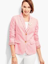 Talbots Party Gingham Blazer