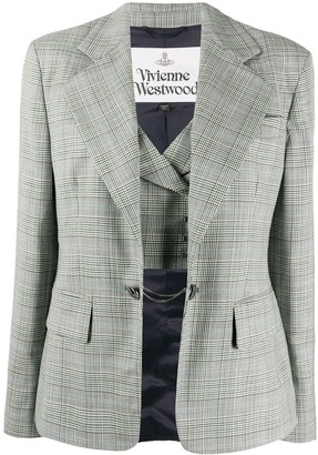 Vivienne Westwood Fitted Check Blazer