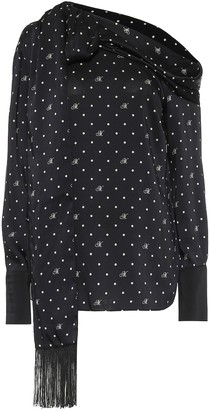 Monse Polka-dot off-the-shoulder blouse