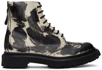 Études Black and Off-White Adieu Edition Type 129 Paint Boots