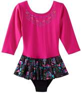 Jacques Moret Girls 4-14 Long Sleeve Embellished Skirted Leotard