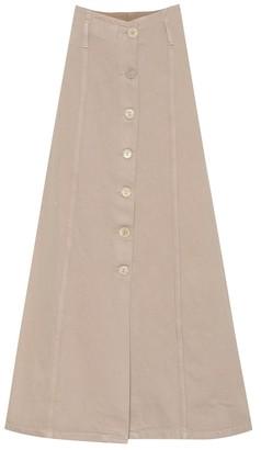 Nanushka Roja khaki maxi skirt
