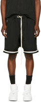 Fear Of God Black Dropped Mesh Lounge Shorts