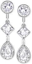 Swarovski Silver-Tone Multi-Crystal Earring Jacket Earrings