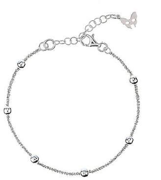Vamp London Chic Rio Beaded Silver Bracelet of Length 16-19cm