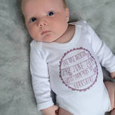 Modo creative Personalised Birth Announcement Baby Vest