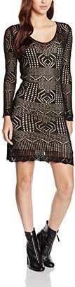 Goldie Women's Bardot Knit Plain Long Sleeve Dress,12 (Manufacturer Size:Medium)