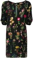 No.21 floral ruffle detail shift dress