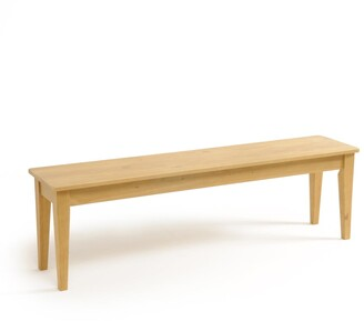 Alvina Solid Pine 3-Seater Bench