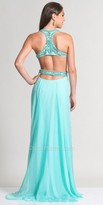 Dave and Johnny Chunky Beaded Racer Back Prom Dress