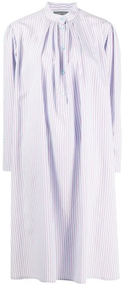 Alberta Ferretti Striped Tunic Shirt Dress