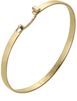 Nouvel Heritage 17cm Dinner Date Mood Yellow Gold Bangle Bracelet