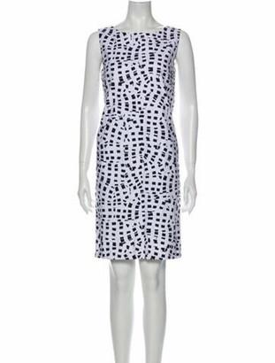 Oscar de la Renta 2015 Knee-Length Dress White