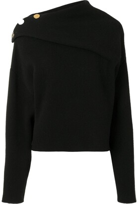 Proenza Schouler Side-Button Fine-Knit Jumper