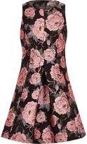 River Island Girls black floral jacquard dress
